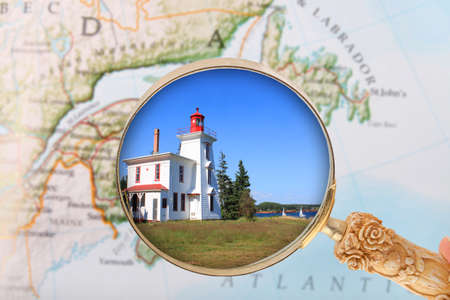 edward: Looking in a lighthouse in  Prince Edward Island, Canada Stock Photo
