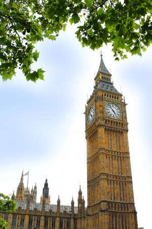 clocktower: The clocktower of  Big Ben in Westminster, London, England
