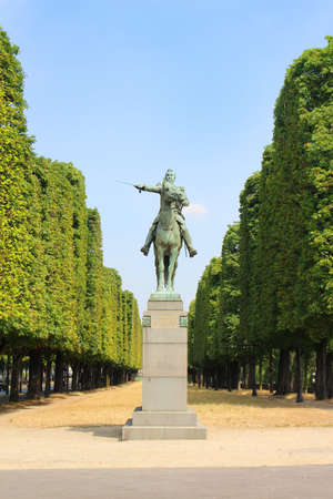 liberator: PARIS, FRANCE,JULY 4,2015: Statue of Simone Bolivar in a Paris Park on a sunny day Editorial