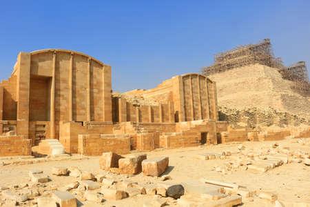 necropolis: Building and Ruins in the necropolis of Saqqara, in Egypt