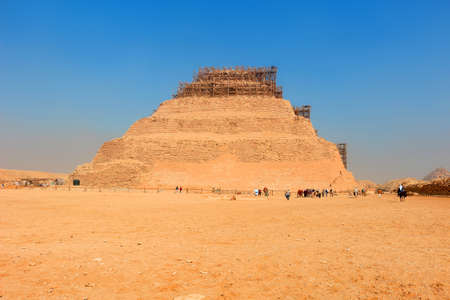 djoser: The first prototype step pyramid Djoser  in  Saqqara, Egypt, North Africa Stock Photo
