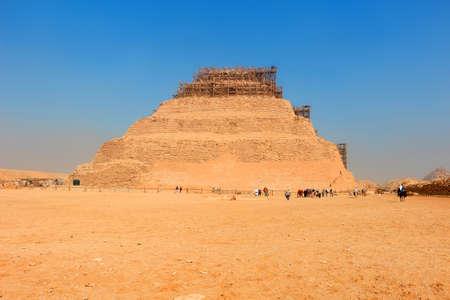 djoser: The first prototype step pyramid Djoser  in  Saqqara, Egypt, North Africa Stock Photo