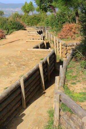 trenches: Trenches in Gallipoli Turkey used in the war in the early 1900s