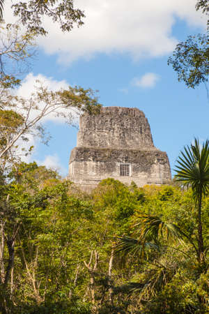 Temple IV also known as the two headed snake temple in Mayan city of  Tikal, Guatemala Stock Photo
