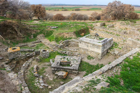 Holy Place in the Ruins of the  ancient city of Troy, in Turkey, Asia Minor