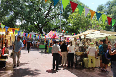 Buenos Aires, Argentina - 2018-02-04 : Feria De San Pedro Telmo, or the San Telmo fair a or market held on sundays in Buenos Aires, Argentina Editorial