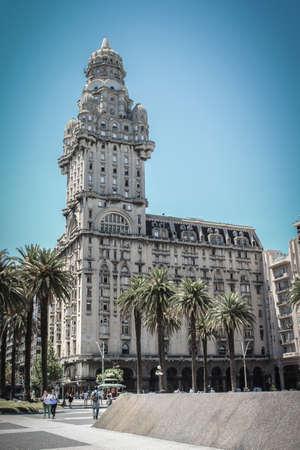 Montevideo, Uruguay - 2018-02-06 :Palacio Salvo or Salvo Palace in Montevideo, Uruguay, South America