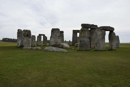 Photo of Stonehenge monument  - is a prehistoric monument in Wiltshire, England 版權商用圖片
