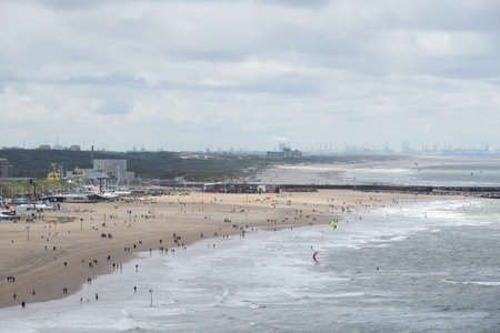 Photo of beautiful view on sea coast, filmed from the Pier Stock Photo
