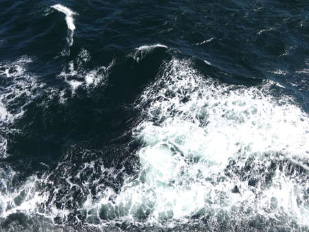 Photo of sea - sea waves, which are made by the ship