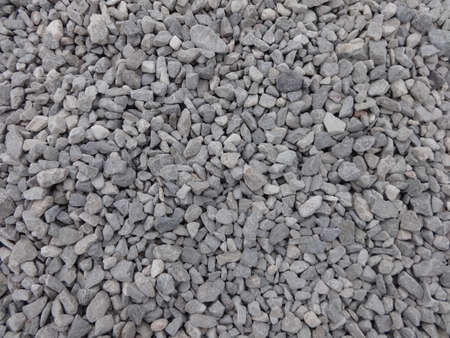 Detailed photo of beautiful rubble near to sea cost line Stock Photo