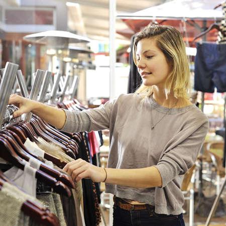 boutique shopper Stock Photo