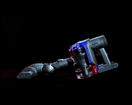 Brisbane, Australia - 2011: studio shot of Dyson hand-held vacuum cleaner