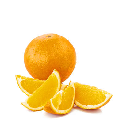 orange with cut sections Stock Photo