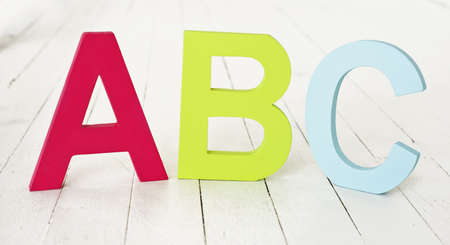 floorboards: large painted ABC letters on floorboards