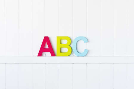large painted ABC letters on a wall photo