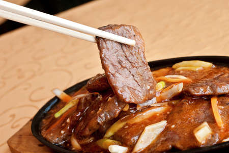 chinese food, sizzling beef photo