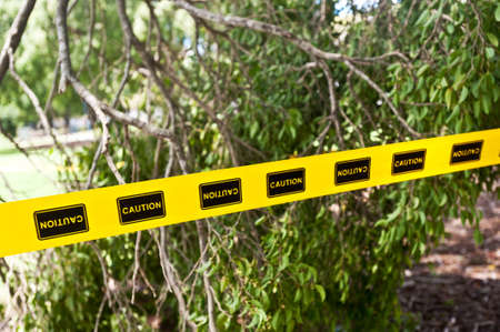 caution tape as seen at the scene of a natural distaster Stock Photo - 19746882
