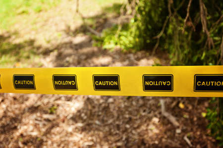 caution tape as seen at the scene of destruction Stock Photo - 19746880