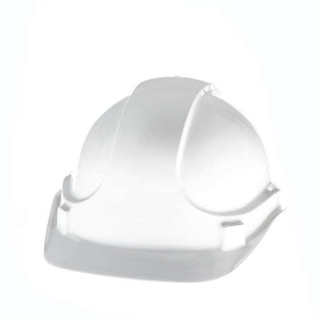 white hardhat on white background photo