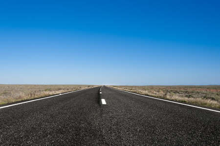 broken hill: a straight road in outback Australia, somewhere between Broken Hill and Dubbo