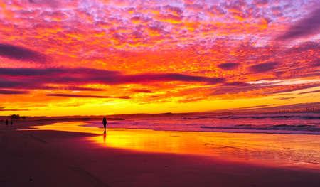 coolangatta: sunset at coolangatta, Australia