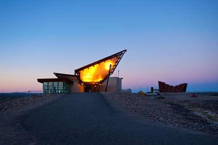 broken hill: tourist centre, restaurant and memorial centre atop the hill in Broken, Hill, NSW