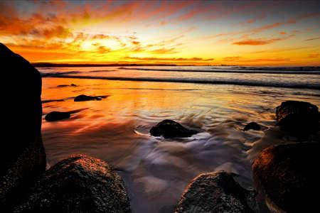 coolangatta: orange tones in Coolangatta during a winter sunset, pretty special place.