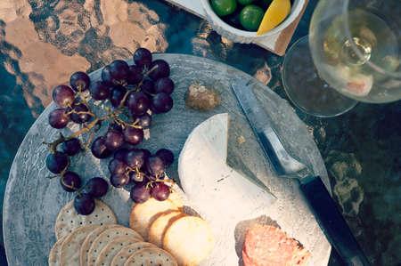 antipasto platter: afternoon sun across our antipasto platter