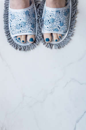 quirky: feet in quirky slippers that are also a mop stuff you buy online