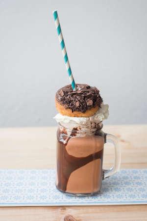 trend: crazy food trend, the freakshake, a milkshake with food