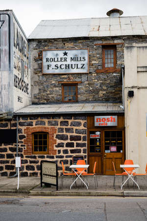 quirky: BAROSSA VALLEY, SOUTH AUSTRALIA  MAY 2015: quirky cafes  are scattered through the many villages in the region.