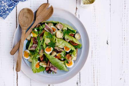 salad dressing: nicoise salad Stock Photo