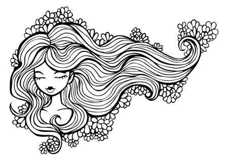 luxuriant: Girl with luxuriant hair