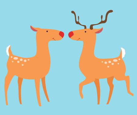Two lovers deer