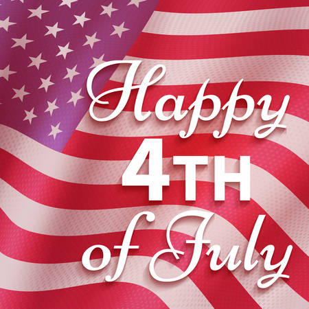 4th of July background. Independence day Vector illustration