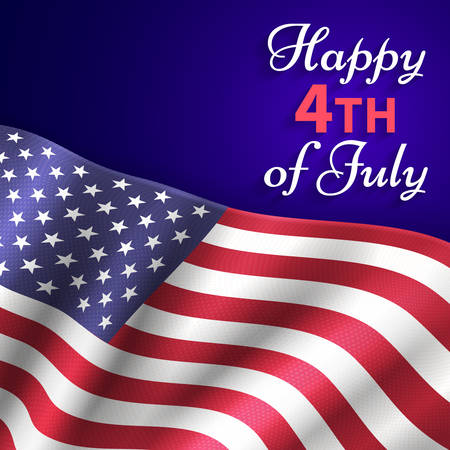 Happy 4th of July vector Design Independence Day July Fourth