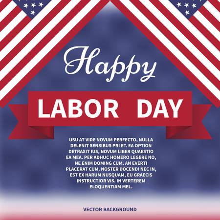 happy labor day Vector background