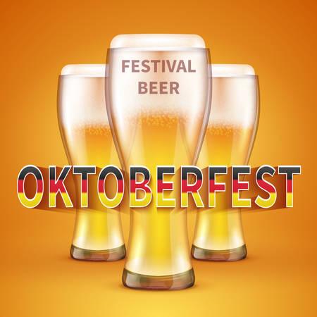 OKTOBERFEST BEER FESTIVAL Vector background
