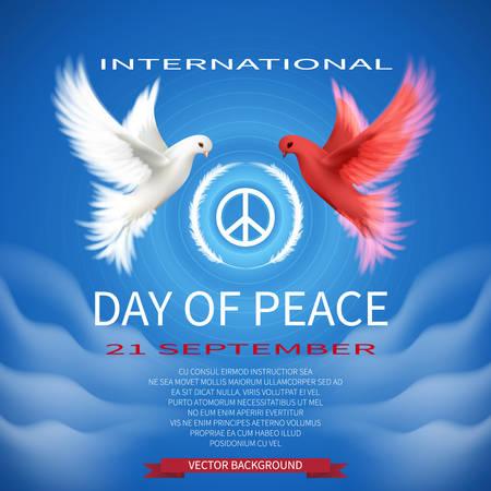 International Day of Peace vector.White dove.21 September.vector  illustration