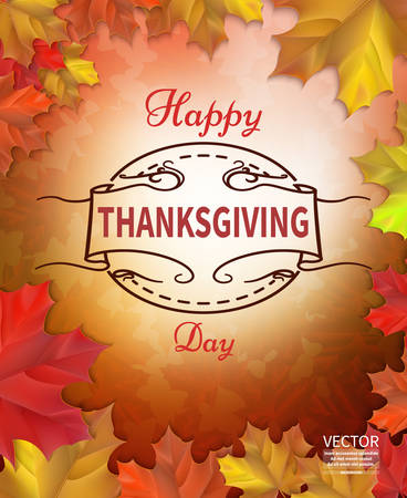 Happy Thanksgiving Day celebrations greeting card design with background.