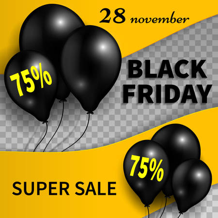 Black Friday banner.Black Friday sale design template