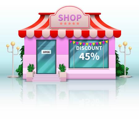 Shop and store icon vector illustration Vettoriali