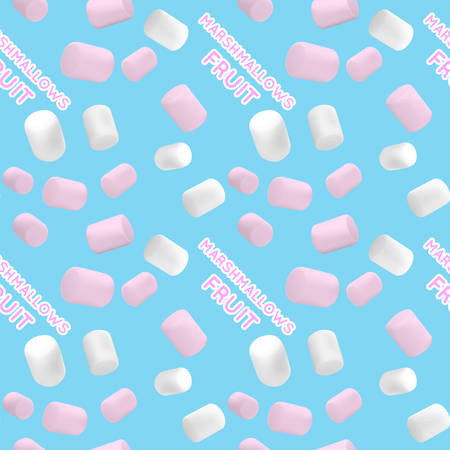Seamless pattern.Marshmallow white and pink. Pattern of a beautiful marshmallow. Good vector illustration for packing Ilustrace