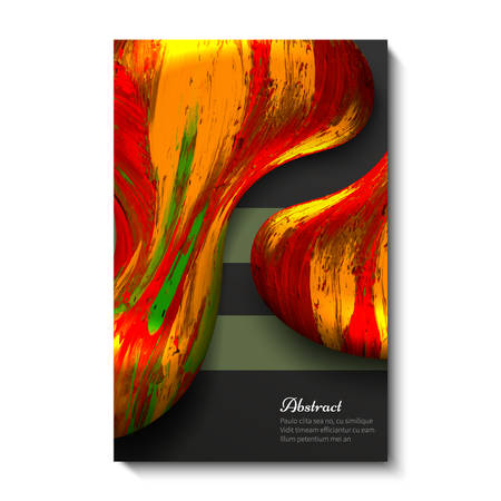 Creative, bright, universal, abstract card design. Dark background Vettoriali