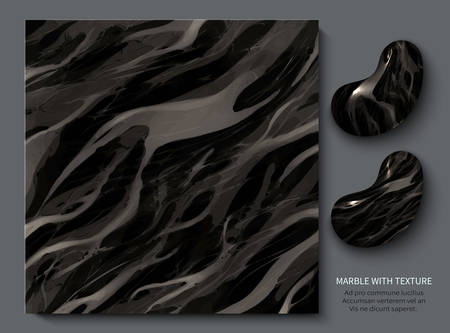 Aristocratic precious marble. Modern design template for invitation, web, banner, card, pattern and wallpaper. Marble with texture background vector illustration Vettoriali