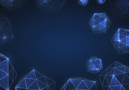 Geometric forms of diamonds. Polygons of vectors. Abstract Background Space Technologies