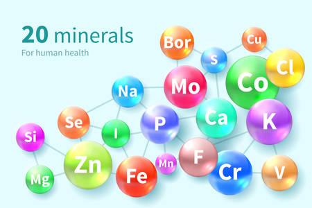 Vitamines et mineraux. Supplément complexe de vitamines minérales