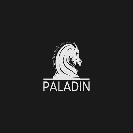 A Horse logo with Black Knight Chess Style