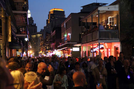 street party: Crowd at New Orleans street